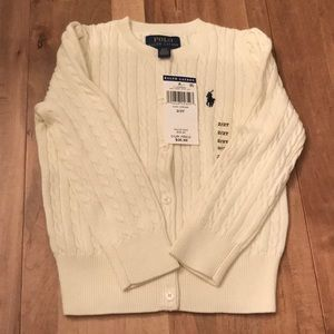 Ralph Lauren girls toddler sweater NWT.
